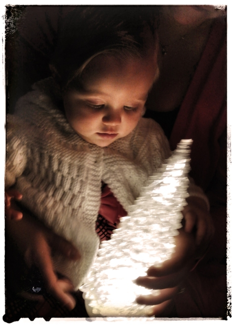My friend's granddaughter this Christmas.