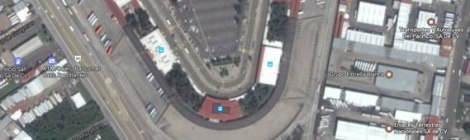 Google satellite shot of Guadalajara's Central Nueva with its multitude of bus stations
