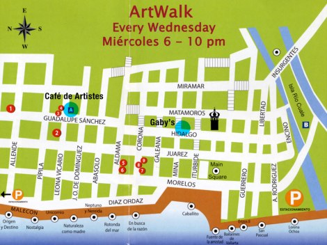 Puerto Vallarta Art Walk Map
