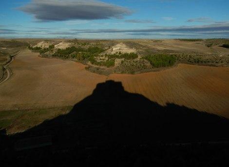 Castillo de Curiel casts it looming shadow over the Spanish landscape