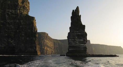 The Cliffs of Moher from the ferry