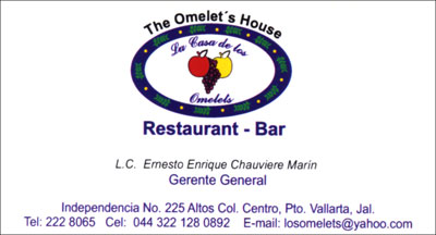 The Omelet's House Restaurant-Bar in Puerto Vallarta