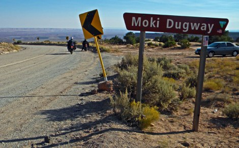 Getting ready to go down Moki Dugway, a super scary road in Utah, USA