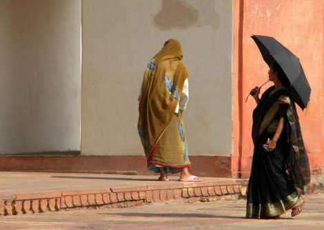 Women at Akbar's Tomb in Agra, India