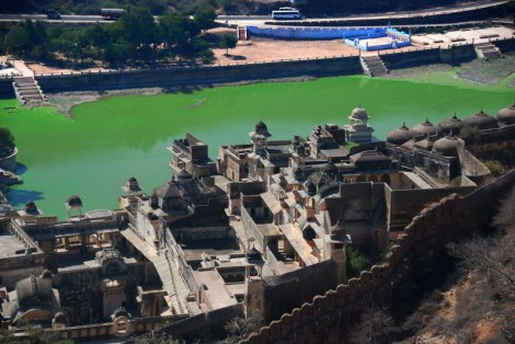 View lake from Bundi Fort in India