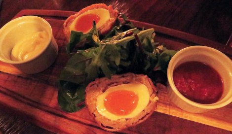 Scotch Eggs at L Mulligan Grocer, a craft beer pub we visited on our first full day in Dublin, Ireland