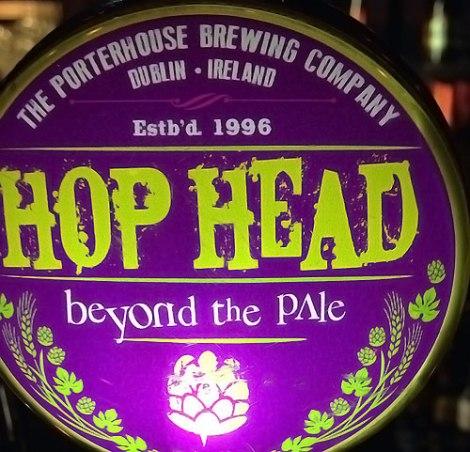 Hop Head beer at the Porterhouse Temple Bar, a brewpub in Dublin Ireland