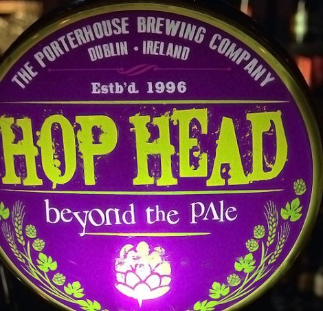 Hop Head beer at the Porterhouse Temple Bar, a brewpub in Dublin Ireland