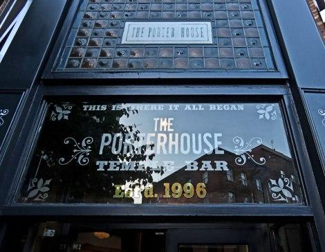 The exterior of the Porterhouse Temple Bar in Dublin, Ireland