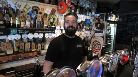 The bartender at the Salt House Craft Beer Pub in Galway, Ireland