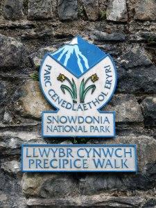 Precipice Walk Sign