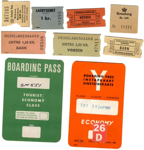 Travel to Denmark boarding passes and tickets