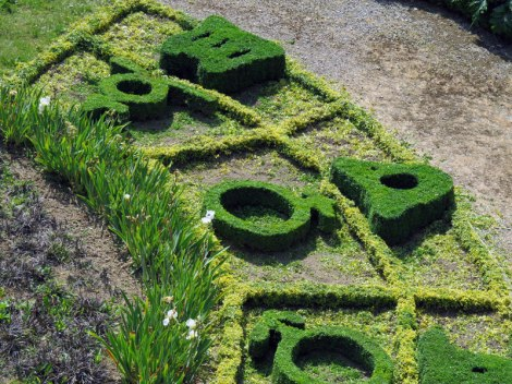 The 'Horoscope Garden' within the Fressin Medieval Castle Ruins, France
