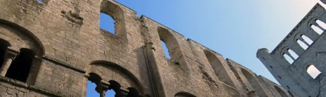 The Jumieges Abbey ruins in France