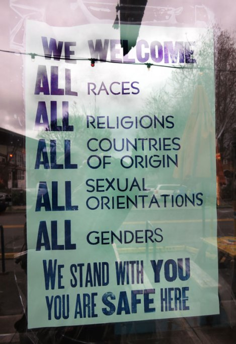 Safe in Trump's America; safe havens popping up all over the city of Portland, Oregon