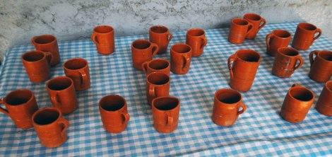 Coffee-tasting cups at La Quinta in San Sebastian, Mexico