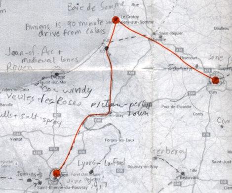 Amiens to Rouen via the Baie de Sommes route