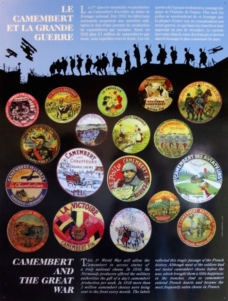 Poster showing the role of Camembert in the Great War