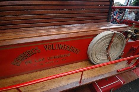 An antique firetruck at a car show in Buenos Aires' Recoleta Barrio, Argentina