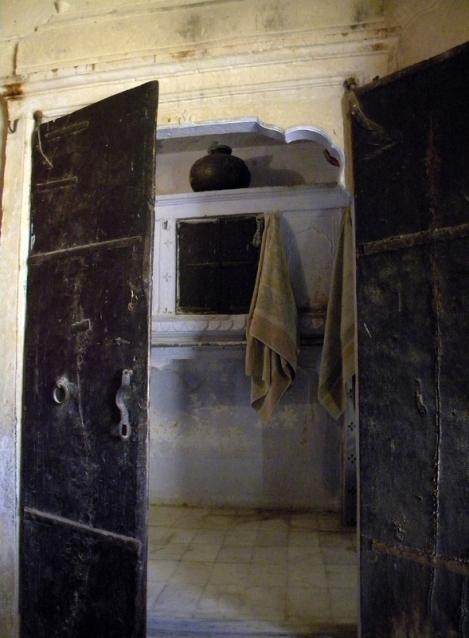 The bathroom in Jaisalmer's Hotel Suraj in India