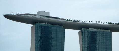Highrise Boat Architecture on Singapore Harbour