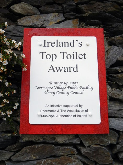 Ring of Kerry's Portmagee 'Top Toilet' award