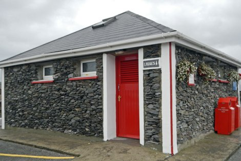 Ireland deals with its garbage problem in several ways, one is giving out awards for 'Tidy Towns'  and 'Top Toilets' all around the country. This 'Top Toilet' is in Portmagee in the Ring of Kerry