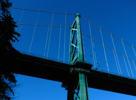 Lions Gate Bridge in Vancouver, B.C. Canada