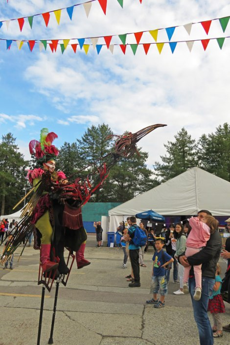 Fantastical bird at the Canada 150: Canada Goes Pacific Francophone festival on Granville Island in Vancouver