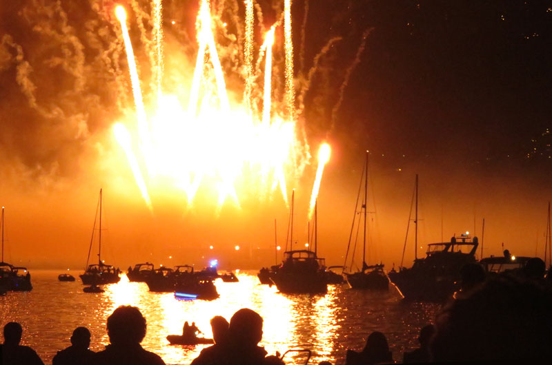 2017 Celebration of Light fireworks from Japan light up the sky over English Bay, Vancouver