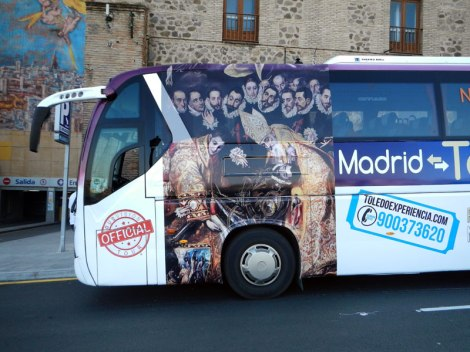 The El Greco bus in Toledo, Spain