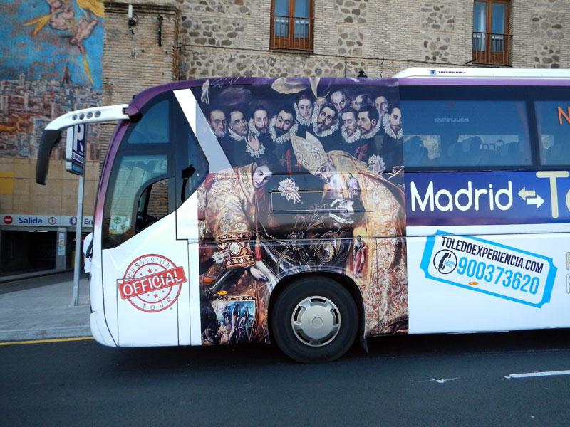 The El Greco bus in Toledo, Spain