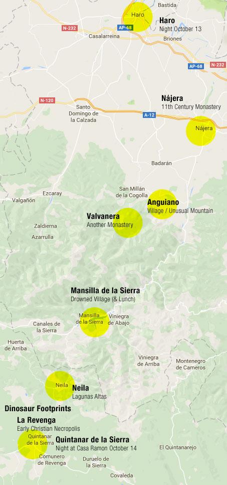 time travelling in Spain: Haro to Quintanar de la Sierra