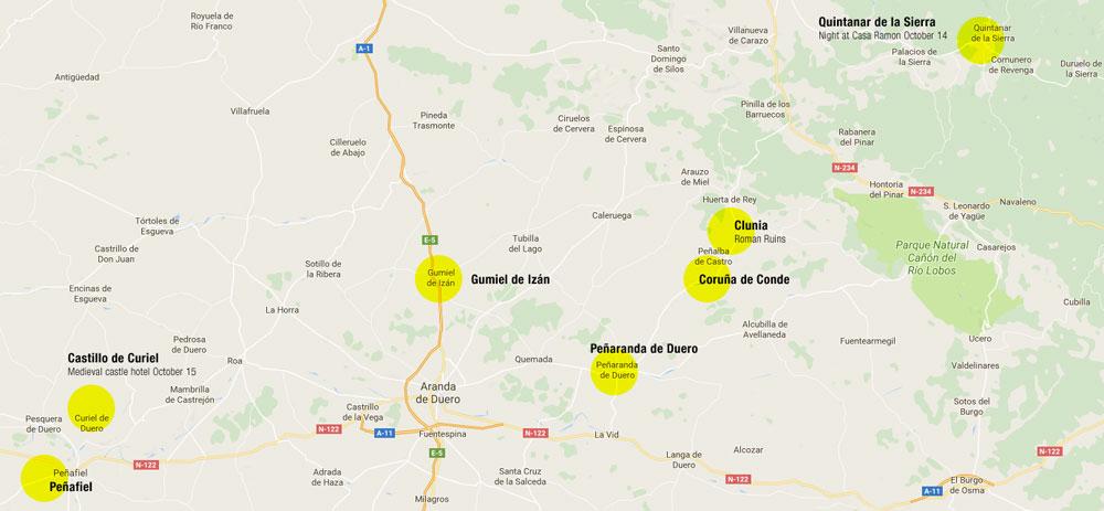 time travelling in Spain: Quintanar de la Sierra to Curiel