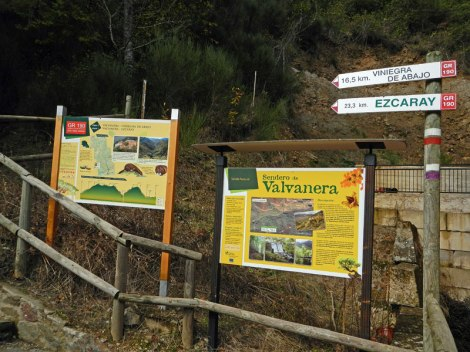 Hiking trails near the Monastery of Valvanera, Spain