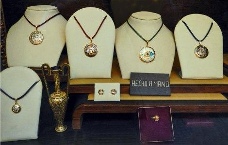 Jewelry display in Toledo, Spain
