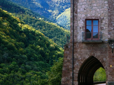 View from the Monastery in Valvanera, Spain