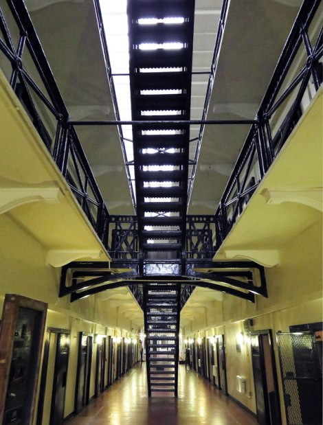 Wrought-iron staircase in the Crumlin Road Gaol (Jail) in Belfast, Ireland