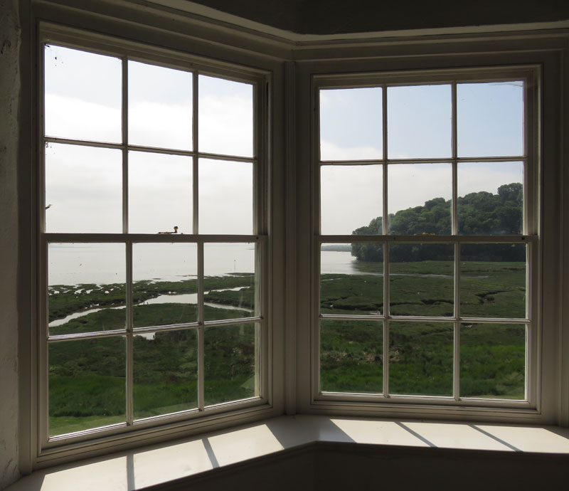 View from the well-known Welsh writer DylanThomas' Boathouse
