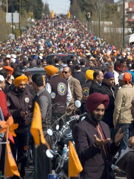 Vasaikhi celebration crowds in Vancouver