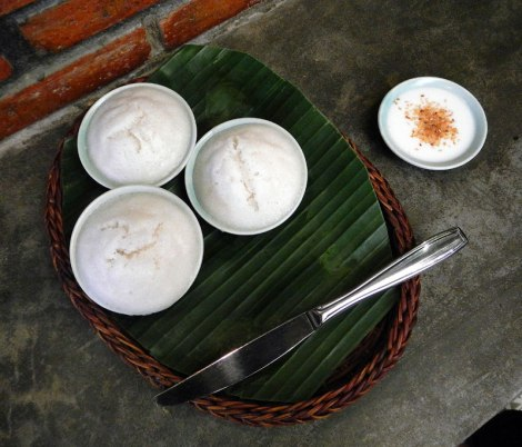 Coconut pudding with coconut cream and toasted sesame seeds on top (ms. Vy's Cooking Class in Hot An, Vietnam)