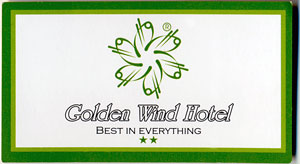 The Golden Wind Hotel Business Card