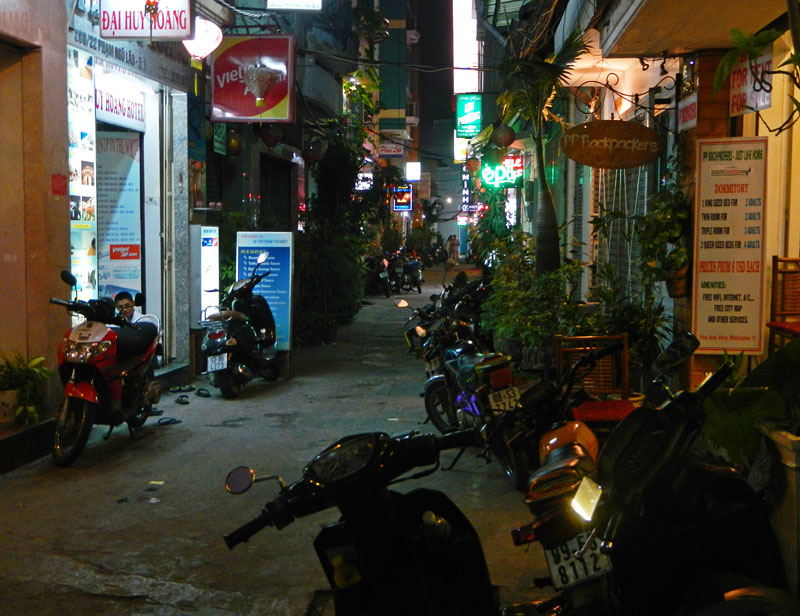 One of the many alleyways in the warren that is HCMC's District 1