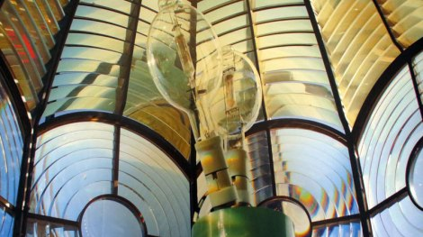A photo of inside the Loop Head Lighthouse beacon