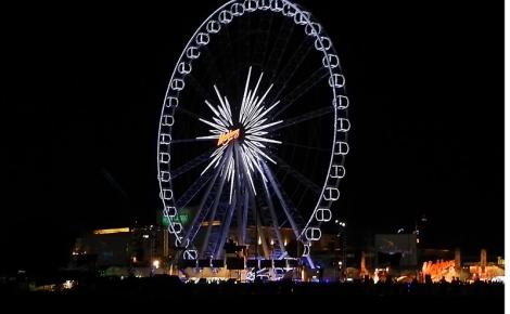 Ferris wheel at the Loi Krathing festival in Bangkok, Thailand