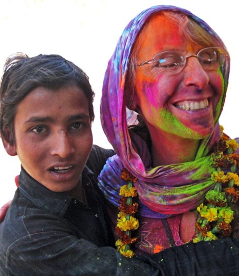Holi, the Festival of Colour, signifying the end of Winter, as celebrated in Jaipur, India