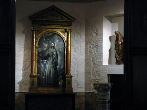 An El Greco painting in the Cathedral of Toledo in Toledo, Spain