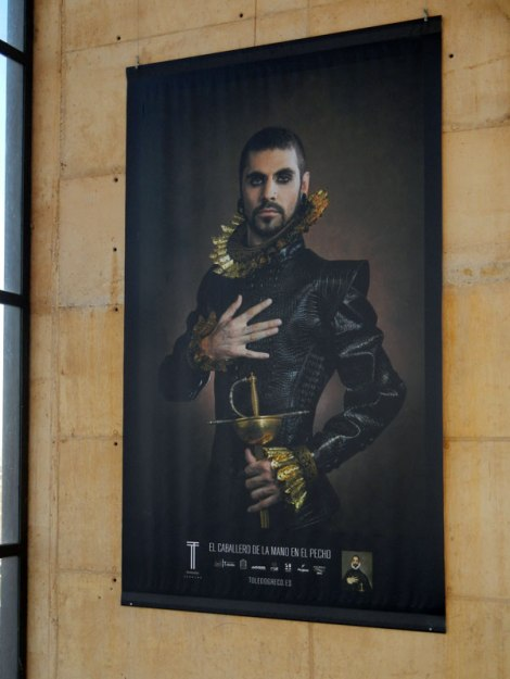 A poster showing a modern version one of El Greco's paintings