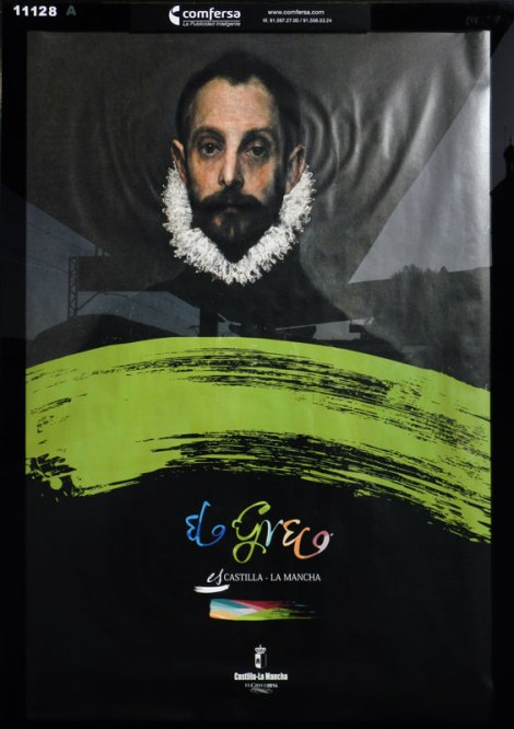 An ad for El Greco in a Toledo train stop, Spain