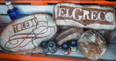 El Greco bread in Toledo, Spain
